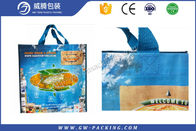 Waterproof Grocery PP Woven Shopping Bag Recycled Custom Logo With Handle
