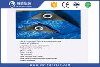 Custom Blue Pe Waterproof Tarpaulin Sheet Press Resistant For Construction Cover