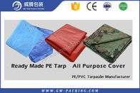 China Heavy Duty Waterproof Tarpaulin Sheet High Density Polyethylene For Truck Cover factory