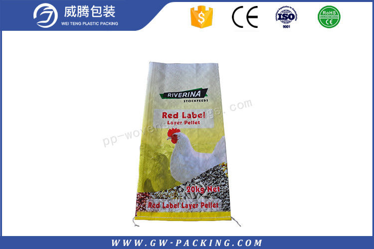 Food Grade Laminated Woven Polypropylene Bags , Dog / Snail Feed Poly Feed Sacks
