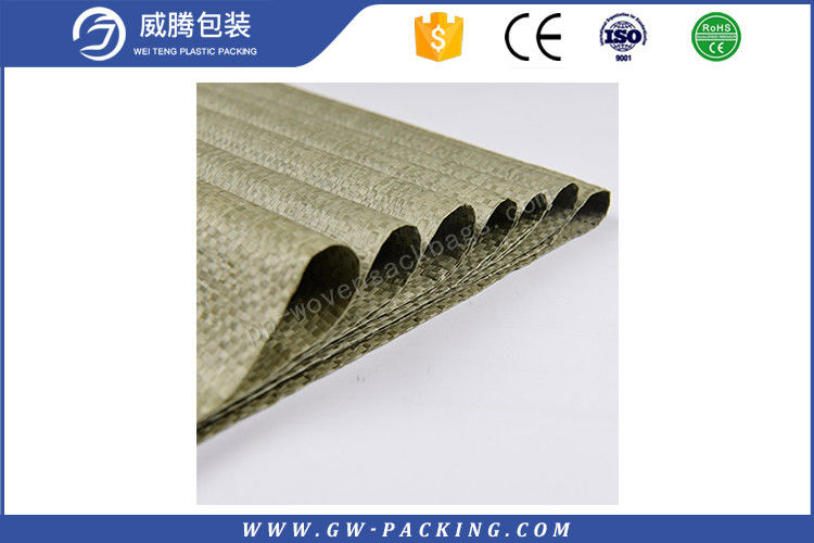 Customized film coated bag pp woven sand bag for flood control at any color such as white color, green color sand bag