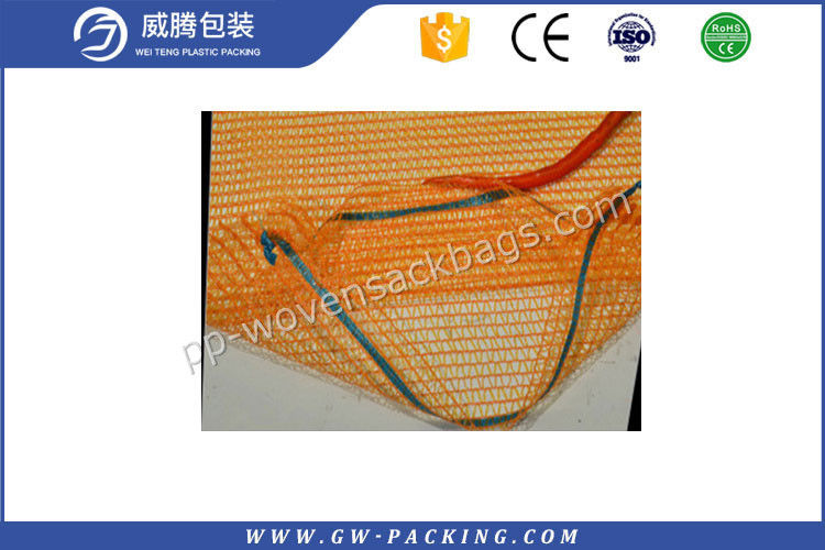 Custom PP Leno Mesh Bags Eggplant Packing High Tensile Strength Non - Toxic