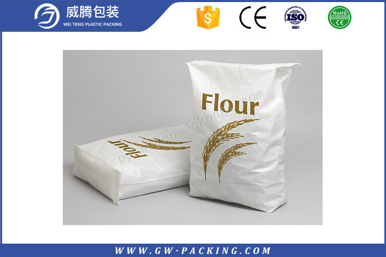 Large PP Woven Flour Packaging Bags High Load Bearing Strength MoistureProof