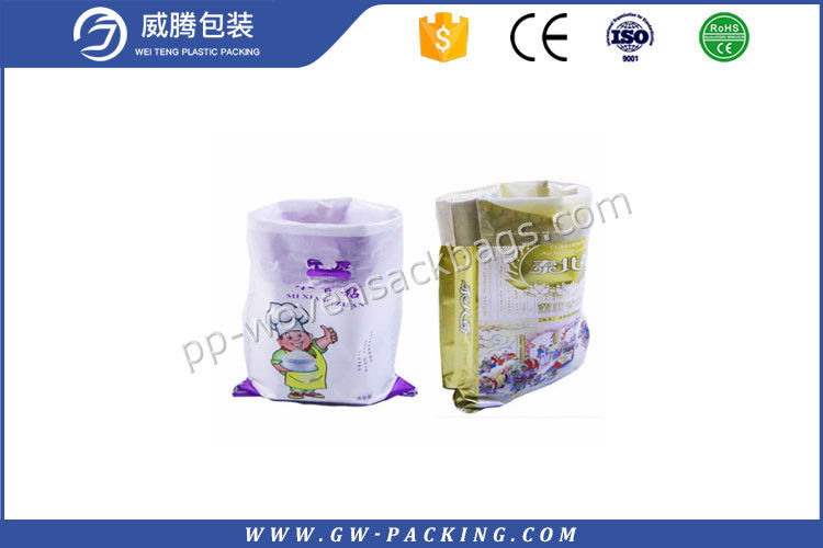 White Laminated PP Woven Rice Bag 30kg Load High Tensile Strength Dust Proof