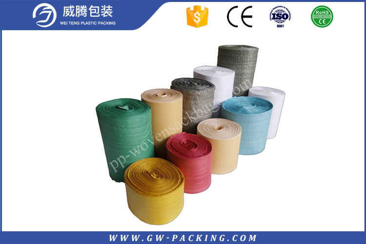 Custom Blue PP Woven Fabric Roll UV Treated Recyclable For Polypropylene Sack