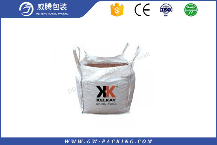 UV Treated Fibc Jumbo Bags 1000kg Flexible For Packing Ore And Garbage Double Warp Fabric