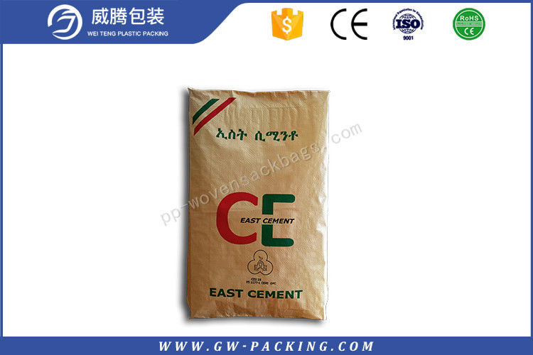 20kg 25kg Valve Polypropylene Cement Bags Heat Seal UV - Protection Treatment