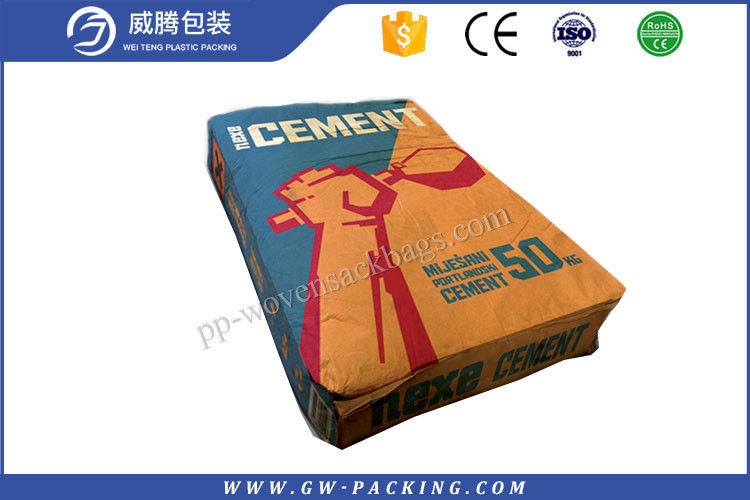 Eco - Friendly Block Bottom Paper Bags 20kg Load Heat Seal Surface Dealing