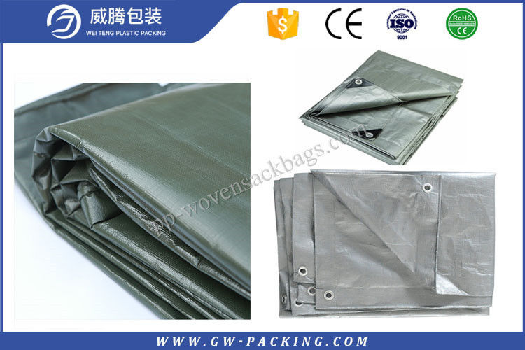 Colorful Large Heavy Duty Tarps , Sun - Resistant Black Plastic Tarpaulin Sheets