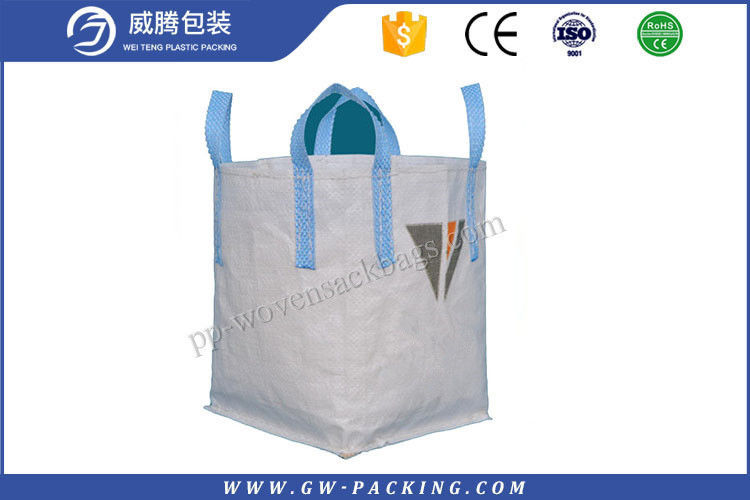 Polypropylene Fibc Jumbo Bags 1 Ton Load Full Sewing High Tensile Strength conical bag, tunnel bag