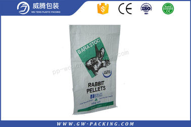 China Recyclable 100% Virgin Woven Polypropylene Feed Bags Waterproof 25kg 50kg Customized distributor