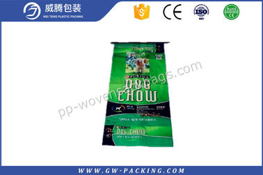 China Waterproof Bopp Laminated Pp Woven Bags , 20kg Load Pet Feed Bopp Packaging Bags distributor