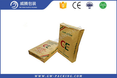 China High Tensile Strength Empty Cement Bags , 25kg Cement Plastic Bag With Vale distributor