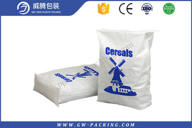 China Custom Polypropylene Cement Bags Plastic Block Bottom Pp Woven Sacks Waterproof distributor