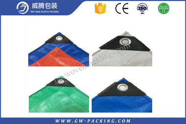 China PE Laminated Tent Green Tarpaulin Sheet , Plastic Heavy Duty Tarpaulin Sheet Anti - Aging distributor