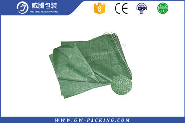 China Double Folded 25KG Polypropylene woven Bags , Heat Cut Laminated Woven Bags distributor