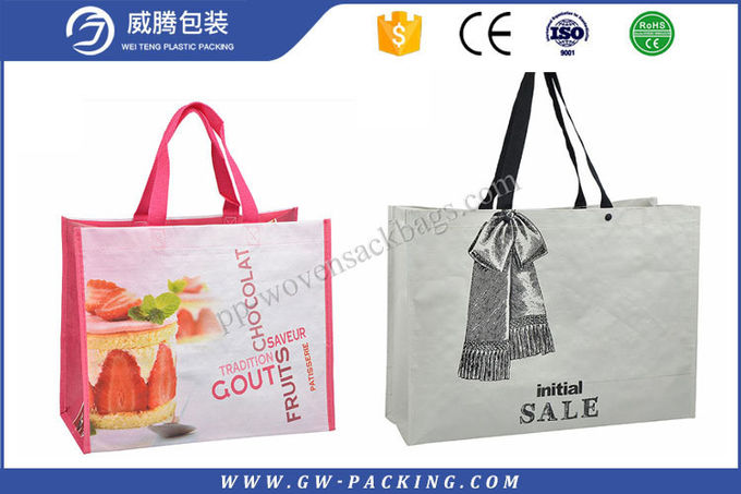 Economical PP Woven Shopping Bag Non - Leakage Non - Delaminating Packaging