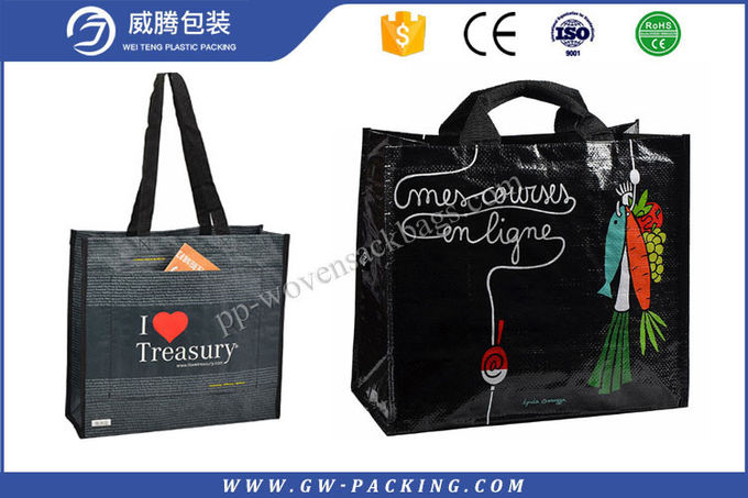 Eco - Friendly PP Woven Shopping Bag Custom Printed Image Dustproof Durable
