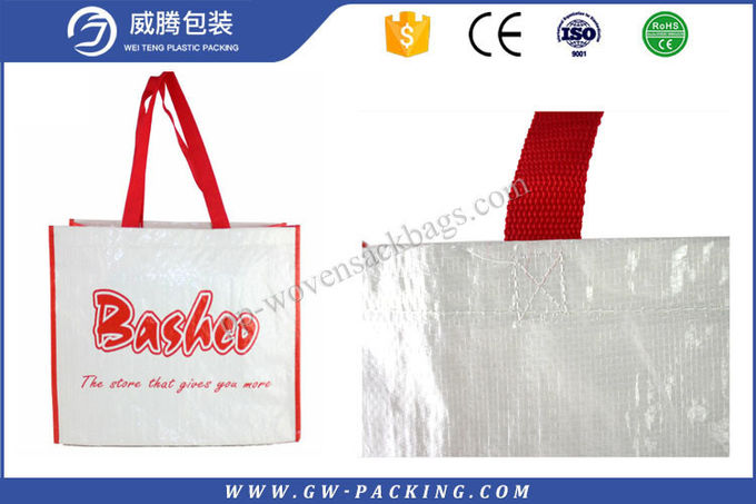 Color Printed Shopping Woven Carry Bags  , Personalised Woven Polypropylene Shopping Bags