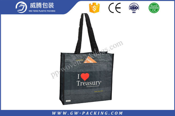 100% Virgin PP Wwoven Polypropylene Shopping Bags , Reusable Custom Shopping Bags