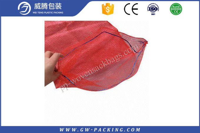 Durable PP Leno Mesh Bags 50 * 80CM High Load Bearing Strength Non - Leakage