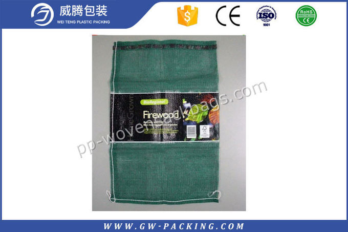 Vegetable And Fruit  Packing PP Leno Mesh Bags Recyclable For Cabbage / Eggplant
