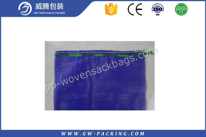 Garlic Packing Mesh Onion Storage Bags , Recyclable Mesh Vegetable Bags