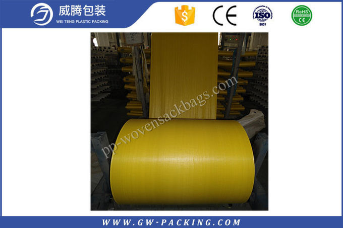 Green PP Woven Fabric Roll High Tensile Strength Sun - Resistant For Pp Woven Bags