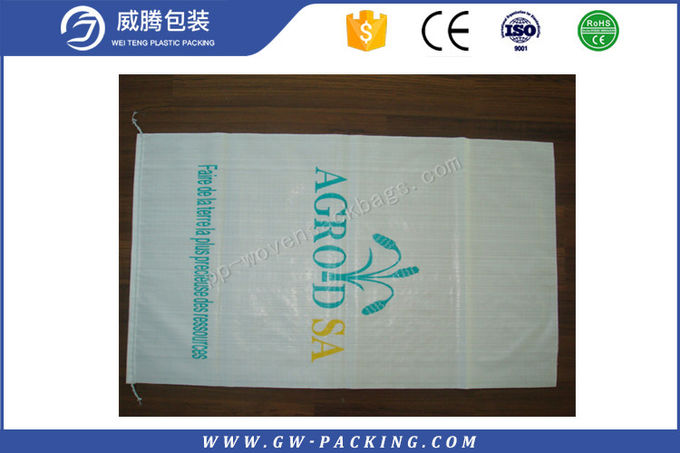 Sugar / Soybean Packing  PP Woven Rice Bag 20kg Load Logol Vivid Printing Effect
