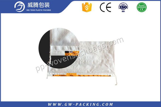 Custom Poly Woven Bags UV Protection , Bopp Laminated Woven Polypropylene Sacks