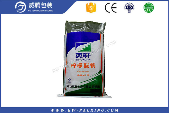 Slap - Up Bopp Laminated PP Woven Bags PE Inner Bag For Wheet Flour Packing Sacks