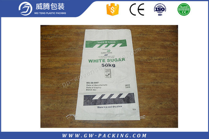 Custom Size Poultry PP Woven Polypropylene Feed Bags 50kg Recyclable Moisture Proof