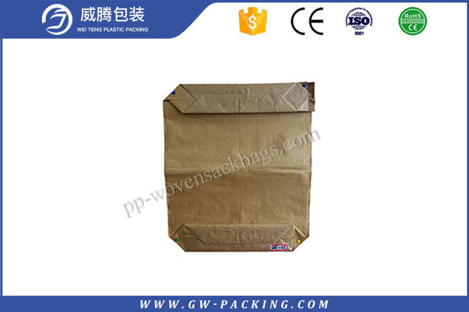 Kraft Paper Block Bottom Paper Bags Brown Valve 40KG Packing Weight For Adhesive