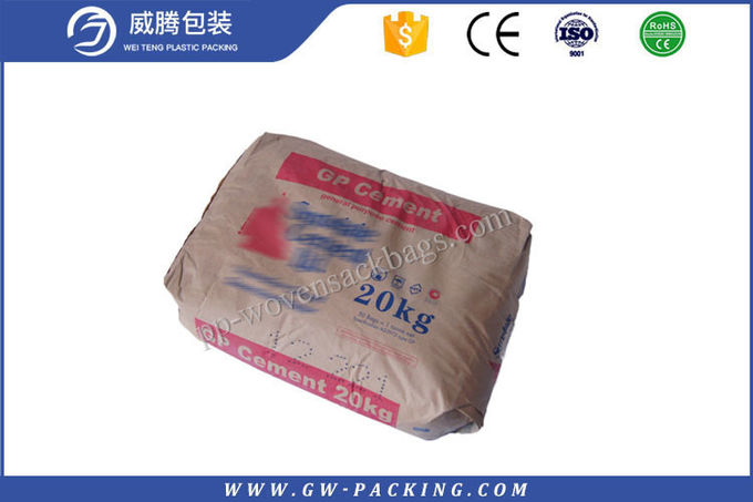 High Strength Quick Mix Concrete Bags , Cement Paper Bags Persistent Durability
