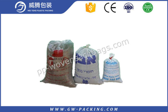 100% Virgin Seed PP Woven Sack Bags Excellent Glossy Print For Fertilizer Packing