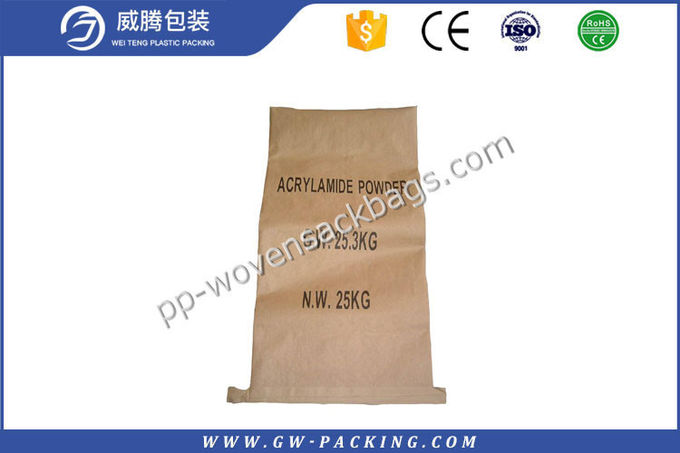 Dustproof 1 Layers Multiwall Kraft Paper Bags Vivid Printing Logol Anti Slip