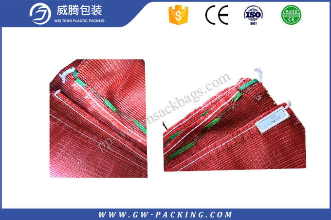 Orange color fruit and vegetables packing customized pp mesh bags